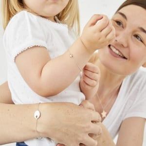 mum and baby with bracelet set