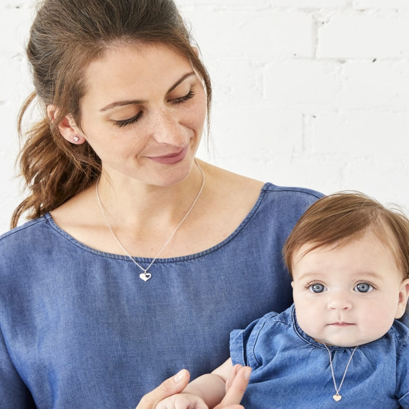 mum and baby with matching necklaces