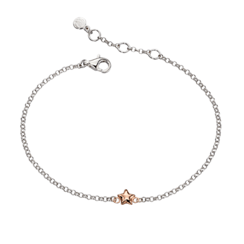 silver bracelet with star