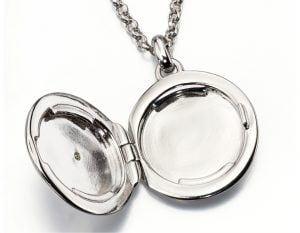 silver circle locket