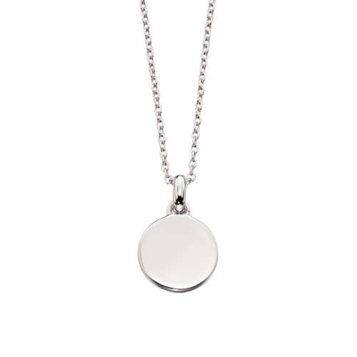 silver circle locket necklace