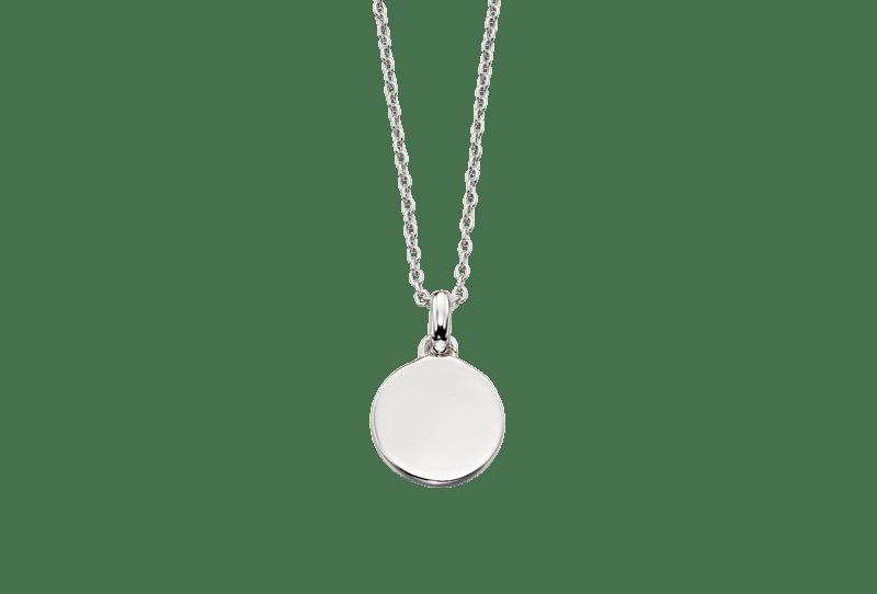 silver circle locket necklace