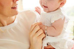 mum and baby with bangle