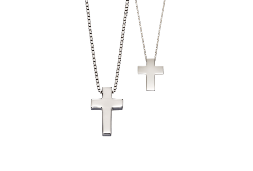 daddy-me-classic-silver-cross-necklace-set