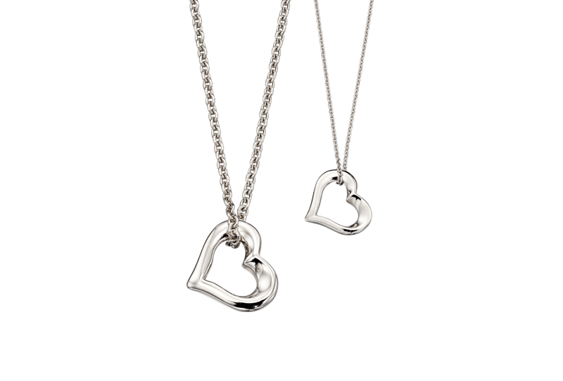 Two hearts necklace set heart necklace little star jewellery two hearts beat as one necklace set aloadofball Image collections