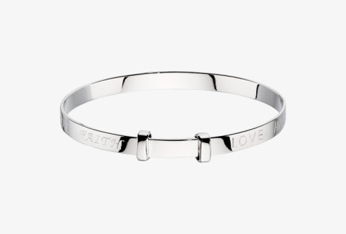 Faith Silver Baby Bangle