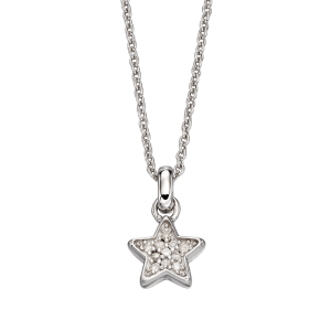 silver necklace with diamonds