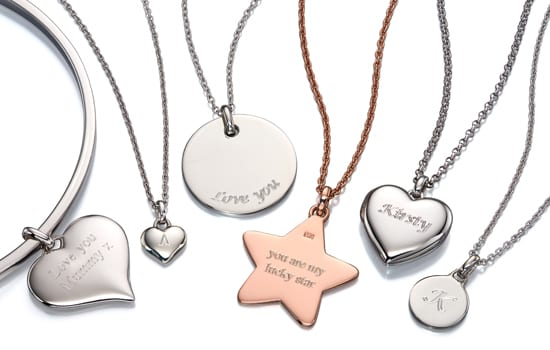 Personalised jewellery engraving service