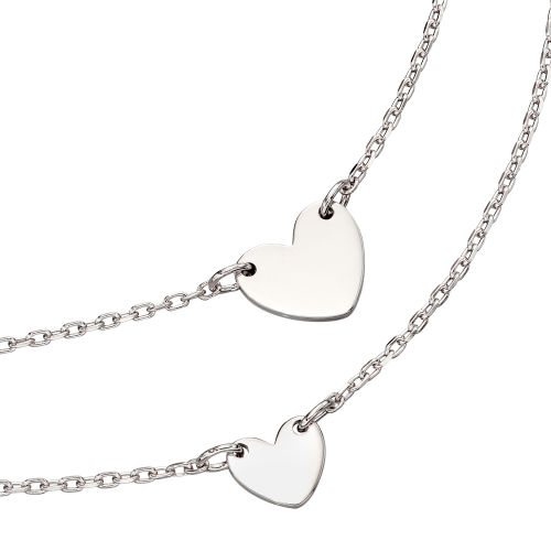 silver heart necklaces