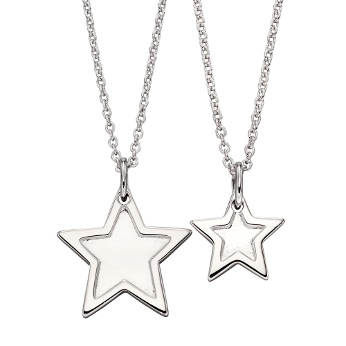 silver star necklaces