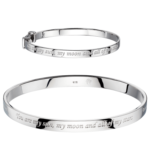 matching silver engraved bangles