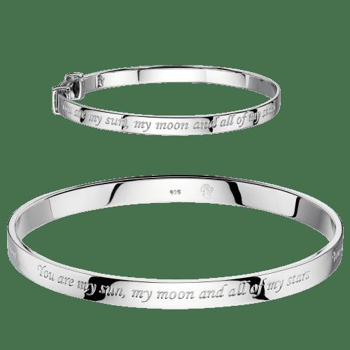 matching silver engraved bangles