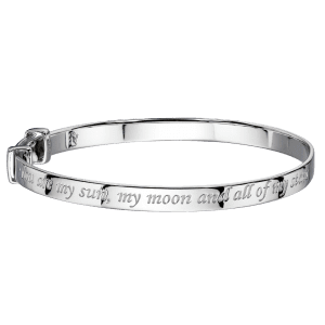 silver engraved bangle