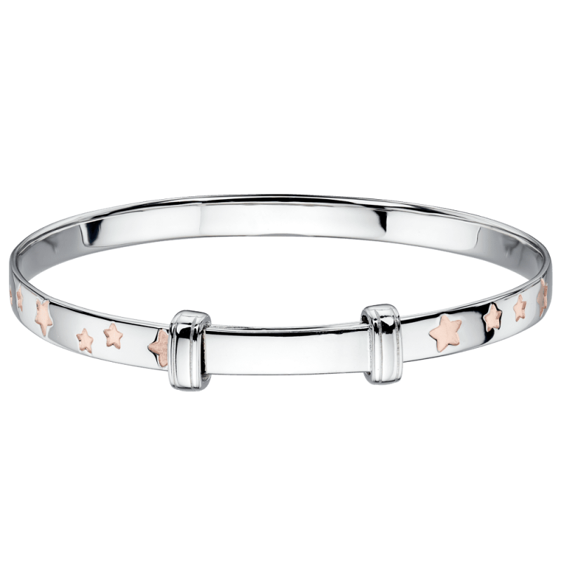 silver bangle with stars