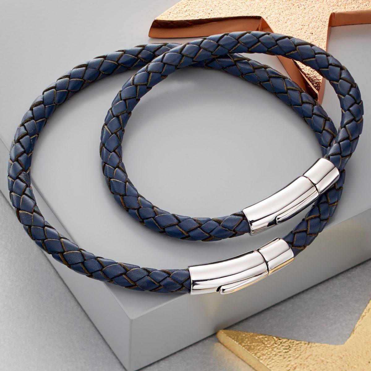 matching leather bracelets