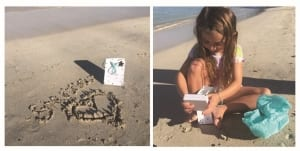 beach and little girl