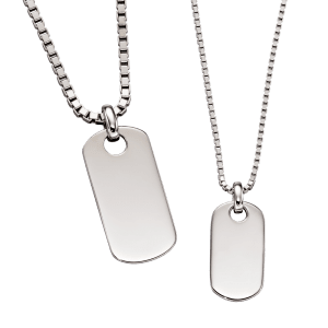 ID tag necklace set