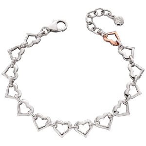 Kosma - Open Heart Bracelet with Rose Gold Plated Heart