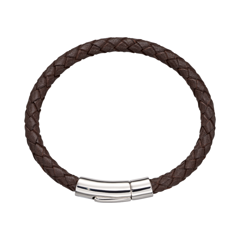 Charlie - Boys Brown Leather Bracelet