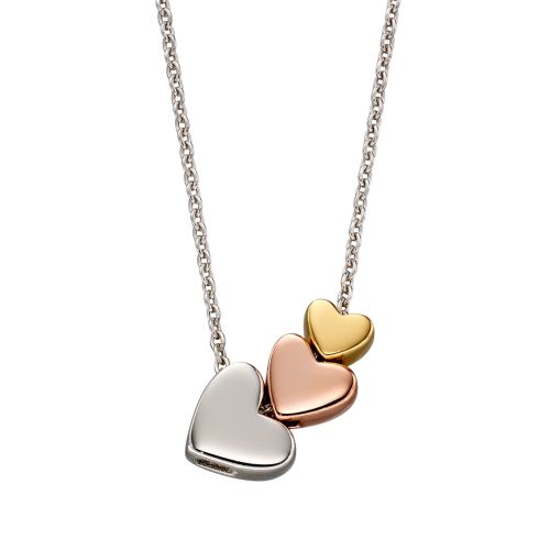 Elisa - 3 Coloured Heart necklace