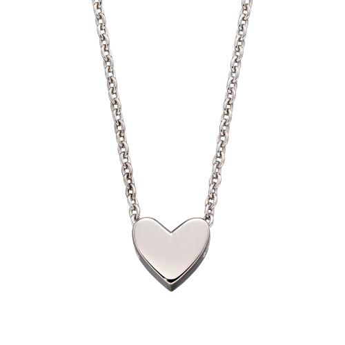 Zahra - Single Heart Charm Necklace
