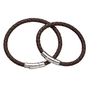 brown leather bracelet set