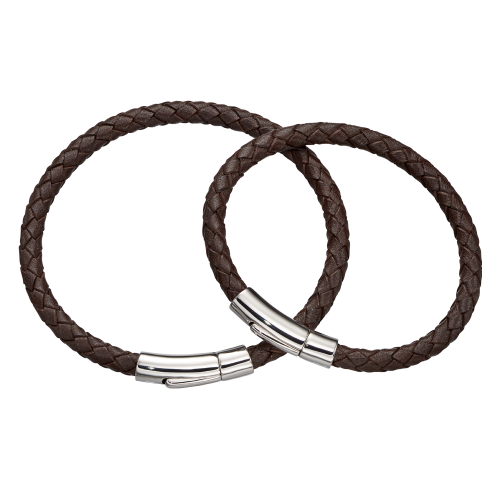brown leather bracelet set